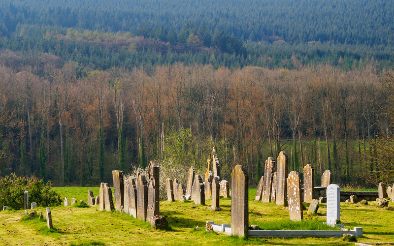 Old graveyard, Kilsheelan, with the Comeragh foothills in the background