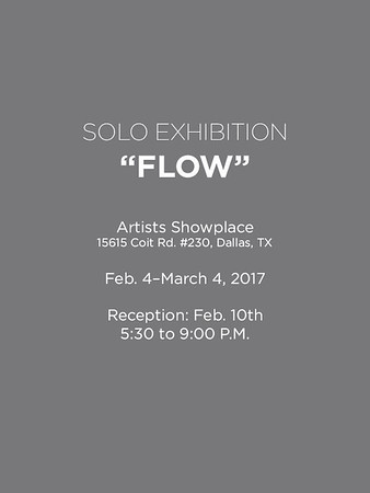 "Solo Exhibition ""Flow"""