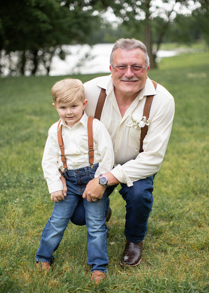 Groom with Grandson at Wedding at Nolichucky Vineyard by Everbright Photography