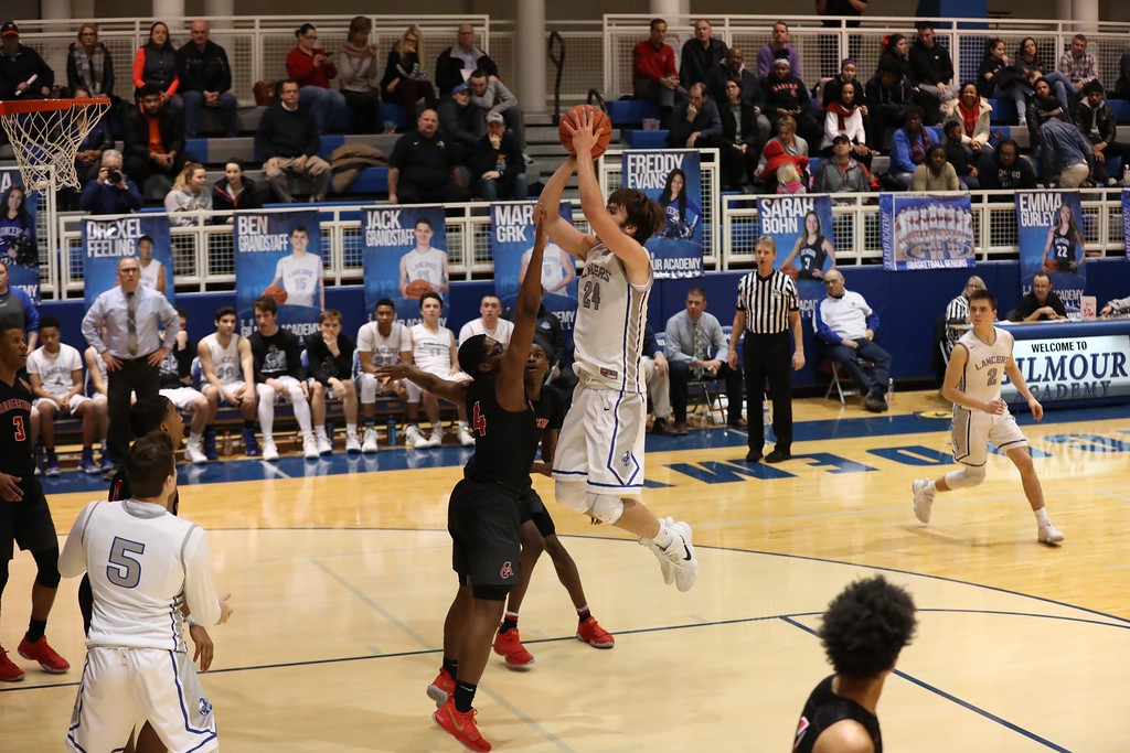 . Tim Phillis - The News-Herald Action from Gilmour-Cornerstone Christian boys basketball Feb. 2.
