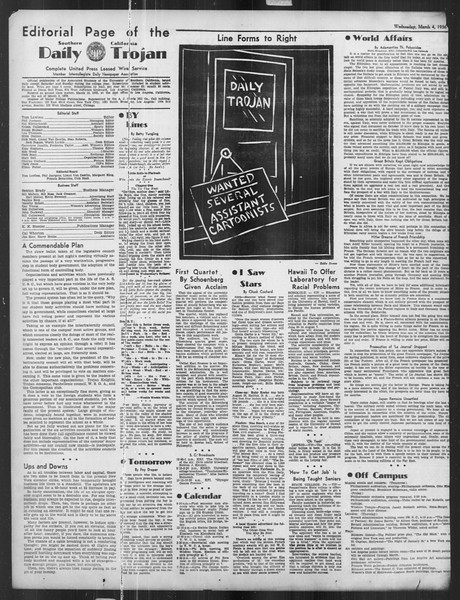 Daily Trojan, Vol. 27, No. 91, March 04, 1936