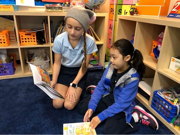 SK & 4th Grade Reading Buddies 2020