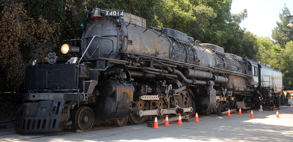 """. The Union Pacific \""""Big Boy\"""" during the 91st Annual L.A. County Fair in Pomona, Calif. on Thursday, Sept. 5, 2013.   (Photo by Keith Birmingham/Pasadena Star-News)"""
