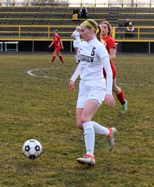 New Boston Huron traveled to Riverview on Wednesday night and defeated the Pirates by a score of 4-2 in what was the Huron League opener. Photo by Alex Muller - For The News-Herald