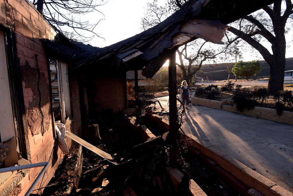. A view of the Joe Kiener residence along Mesa Road in Banning May 2, 2013.  The Kiener residence was the only structure to burn in the Summit Fire.  GABRIEL LUIS ACOSTA/STAFF PHOTOGRAPHER.