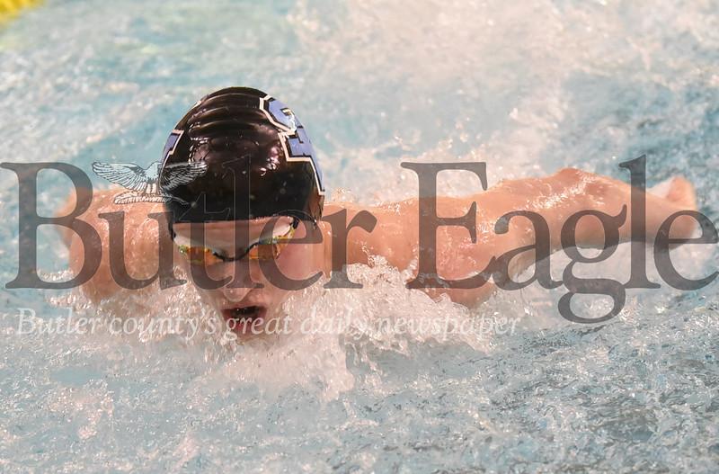 Seneca Valley vs Butler in a swim meet at Butler High School Pool