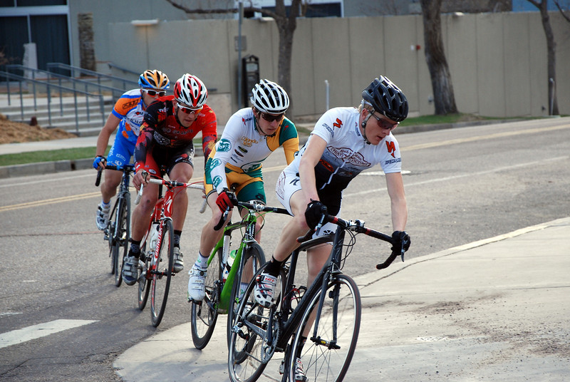 Colorado College Criterium - Matt Shriver Leads Pro Men 1/2 Breakaway Group