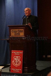 Guest speaker Archbishop Sean Brady adresses the attendants at the event. 07W5N9