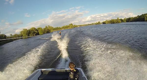 Boat Wake-boarding - July