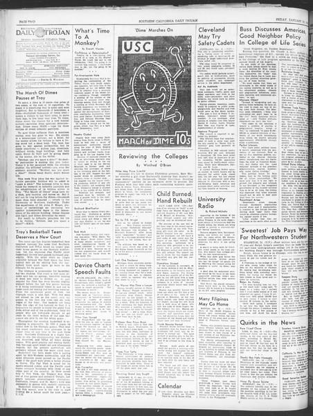 Daily Trojan, Vol. 30, No. 66, January 13, 1939