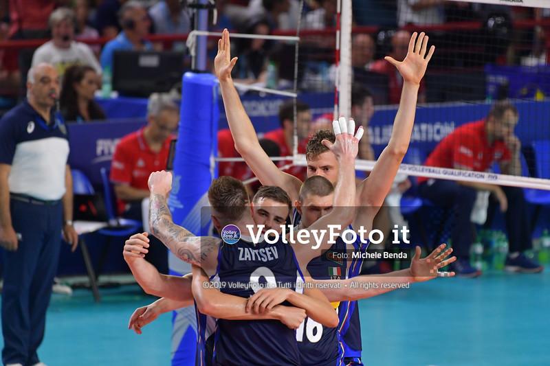 ITALIA vs SERBIA, 2019 FIVB Intercontinental Olympic Qualification Tournament - Men's Pool C IT, 11 agosto 2019. Foto: Michele Benda per VolleyFoto.it [riferimento file: 2019-08-11/ND5_7161]