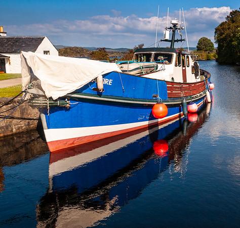 Boat moored at Crinan