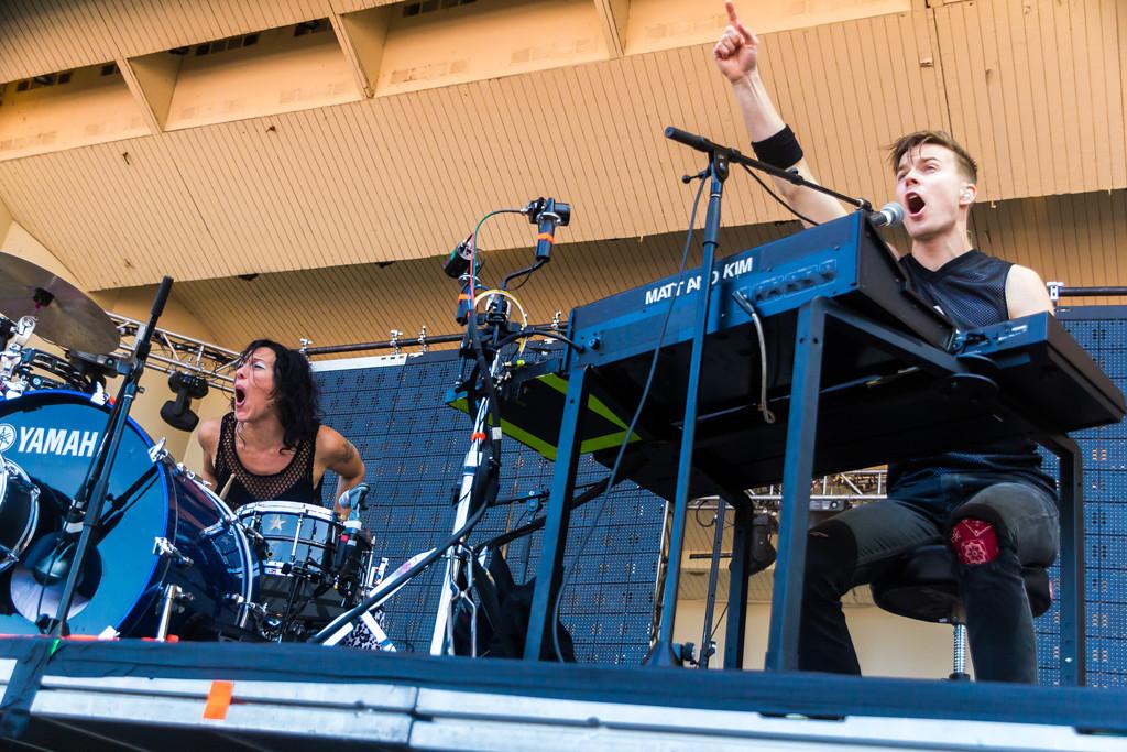 . Matt & Kim at Lollapalooza