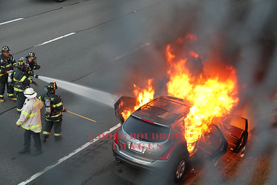 Belmont, MA - Vehicle Fire, Route 2 East at Park Ave, 10-5-14