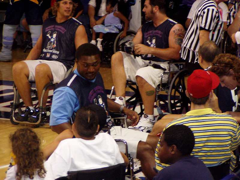 At Drew Bennett's Basketbrawl Game for UCP in 2005