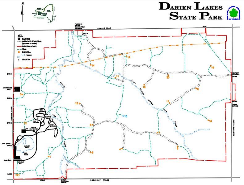 Darien Lakes State Park (Trail Map)