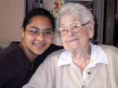 2003.12.31 Great Grandma at Egers