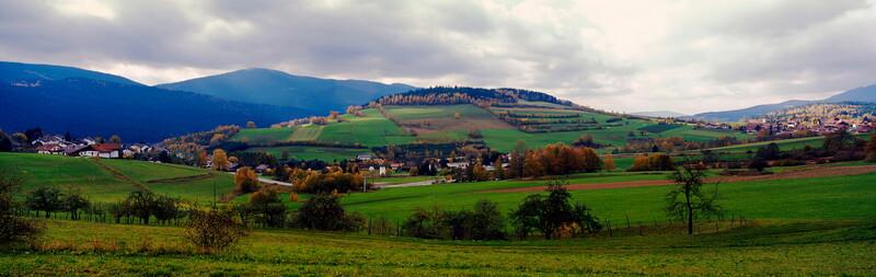 Bavarian forest landscape in autumn