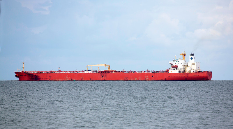 We reach the Texas City Dike.  This is the Tanker Eagle Sibu.