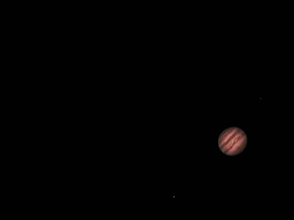 This photo of Jupiter was a 90 sec avi 1/25 of sec 30 fps. Taken with a meade etx 125 and a sac 7 ccd.  processed in registax and cleaded up in photoshop 6.0
