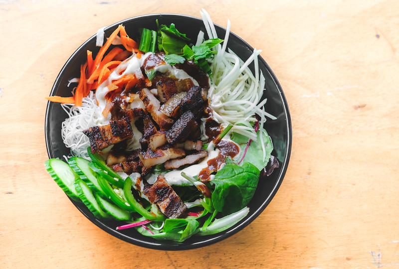 Barbecued Pork Belly Bowl from Les Banh Amis