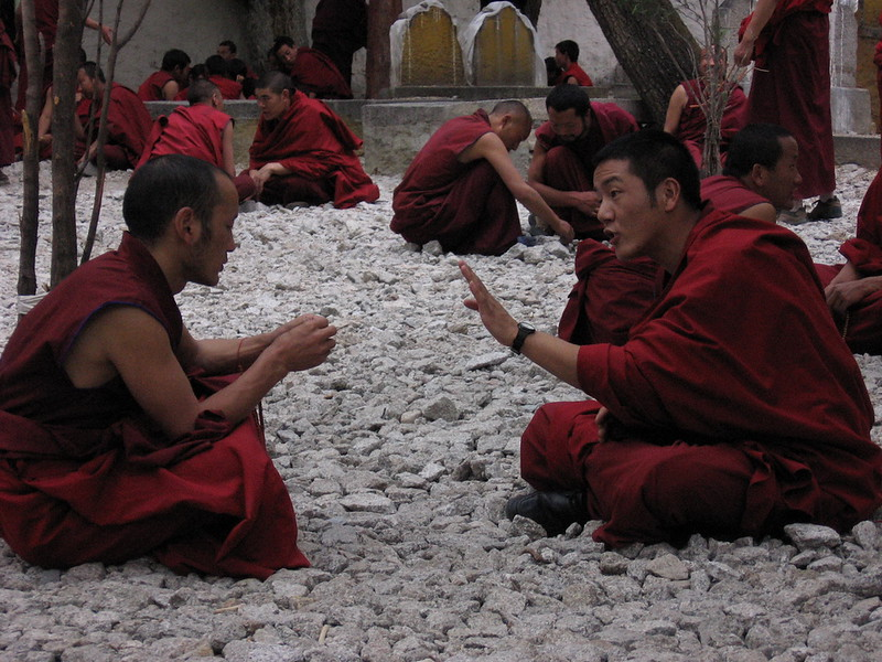 Monks in heavy debate