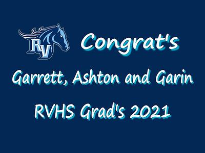 Garrett, Ashton and Garin Grad Party - May 22, 2021