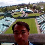 JC above Wimbledon side courts