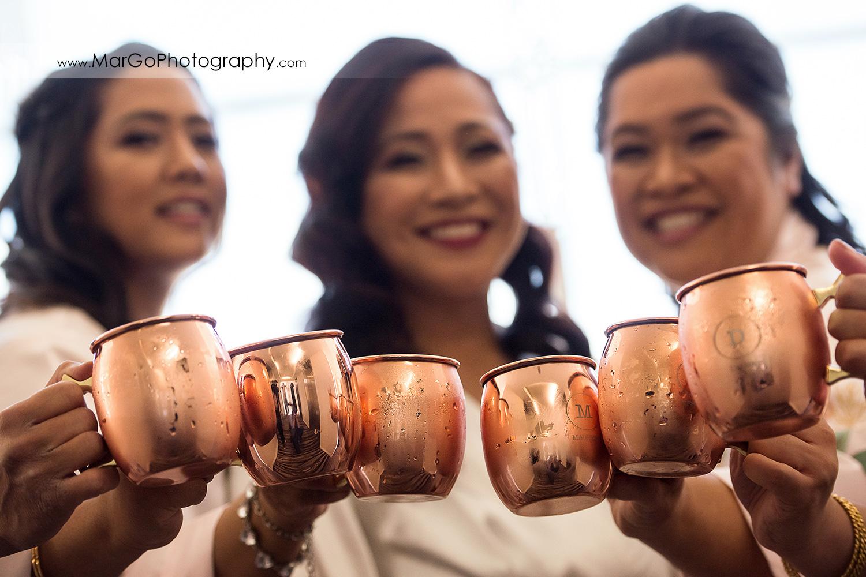 bridal toast at Pleasanton Marriott