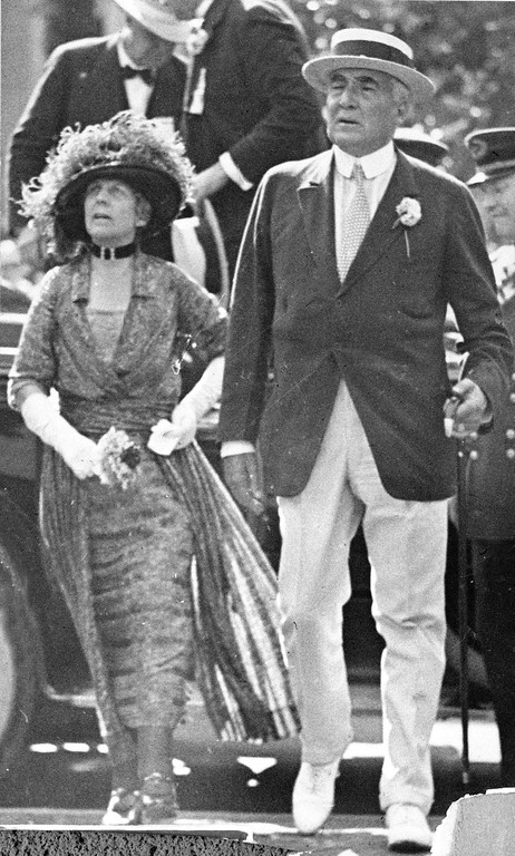 . The 29th President of the United States, Warren G. Harding, and his wife, first lady Florence Kling Harding are seen on July 4, 1923. (AP Photo)