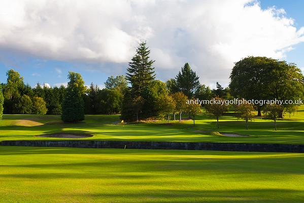 Enjoying the light at Bishopbriggs Golf Club