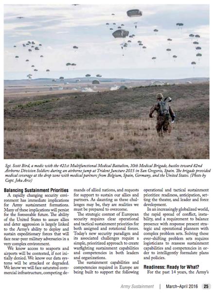 Army Sustainment Magazine