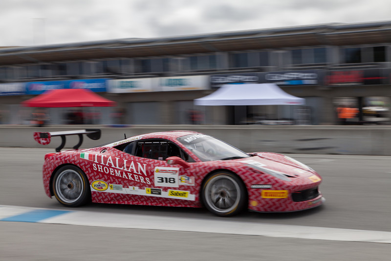 Gregory Romanelli in the #318 Ferrari 458 EVO. © 2014 Victor Varela