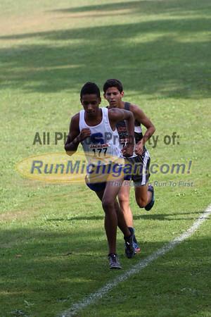 Mid-Race, Boys' D1 Varsity - 2014 Jackson XC Invite