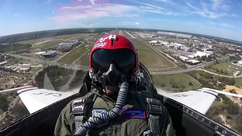 NASCAR Drivers Fly with USAF Thunderbirds