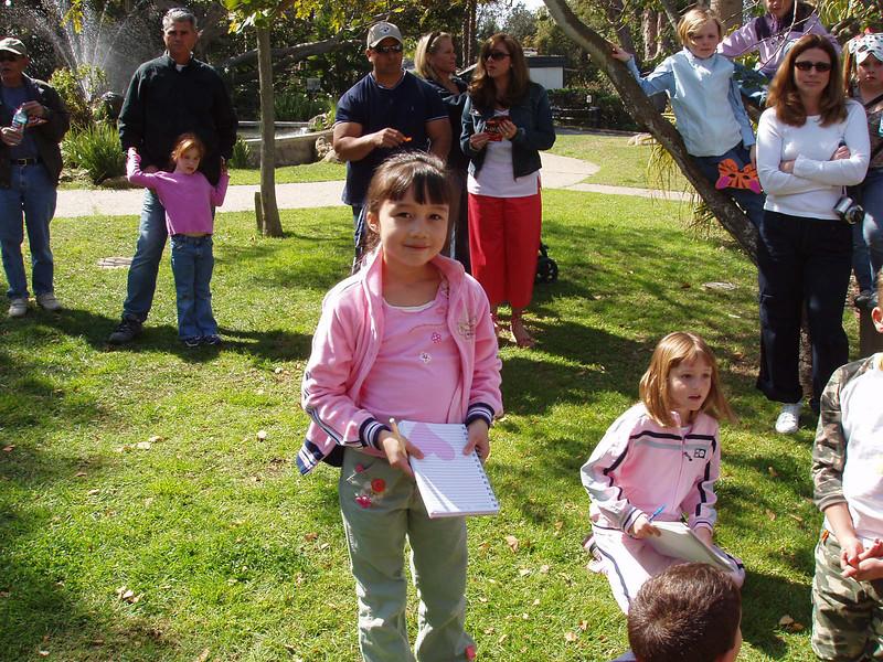 Sierra and Sydney enjoying Alanna and Jaison's birthday party at the Santa Barbara Zoo.
