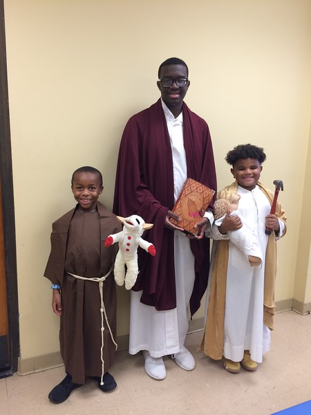 4:00 Mass on Saturday, November 3, 2018  Osayi Igbinoghene, 1st grade, St. Francis of Assisi  Steward Aime, 10th grade, St. John the Evangelist  Cardell Hayes, 2nd grade, St. Joseph
