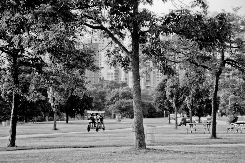 Milwaukee Cityscape on Black and White 35mm Film Photograph 31