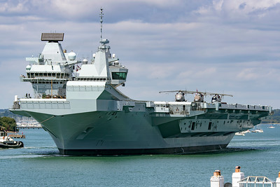 HMS Queen Elizabeth leaves port 17 June 2019