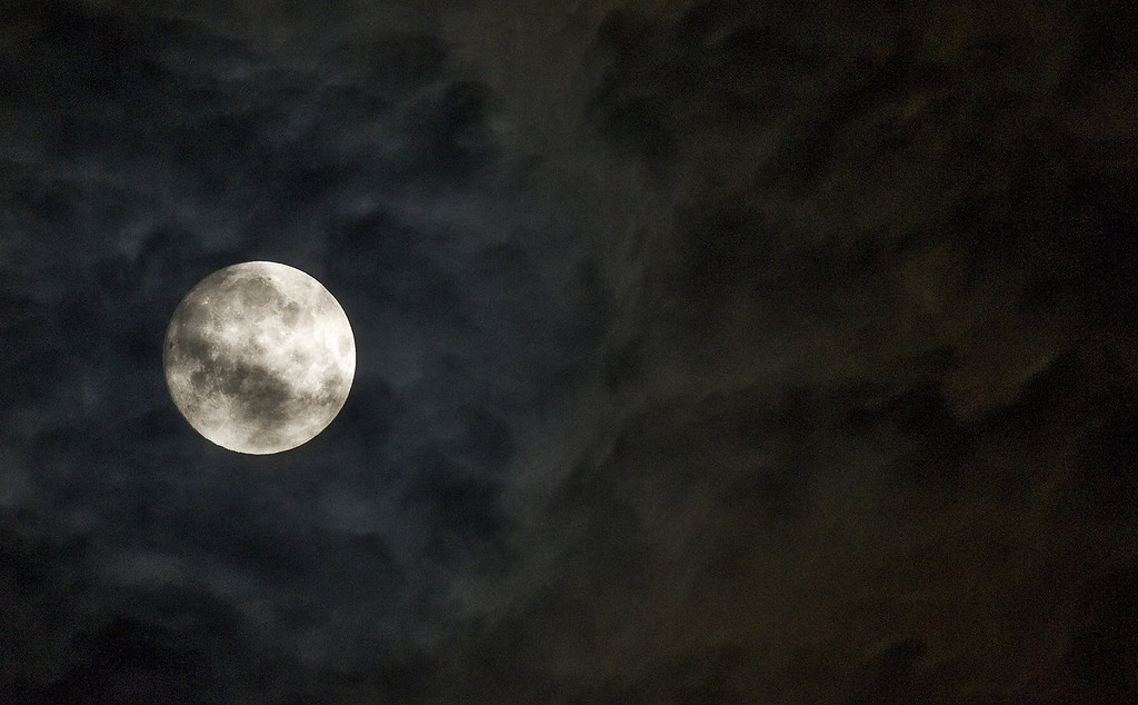 . A full moon is seen in Rome early on June 23, 2013.  TIZIANA FABI/AFP/Getty Images