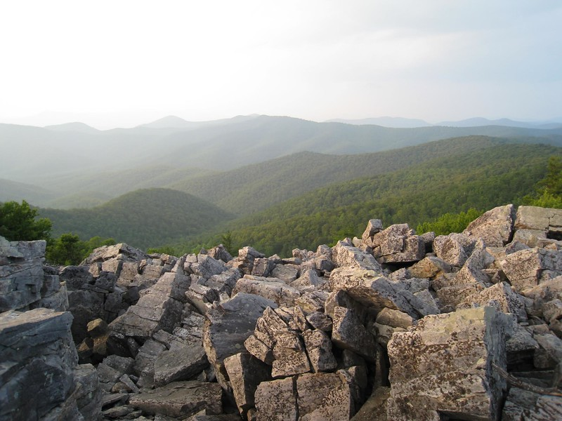 Shenandoah National Park Hiking Trails include sunset views like this one. Be sure to include a trail on your next trip to Virginia.