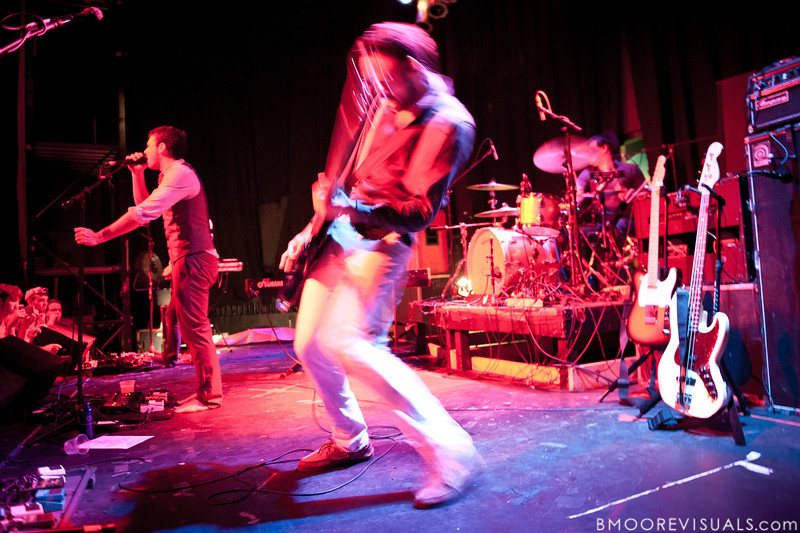 Dan Nigro, Julio Tavarez, and Cliff Sarcona of As Tall As Lions perform on May 2, 2010 at State Theatre in St. Petersburg, Florida