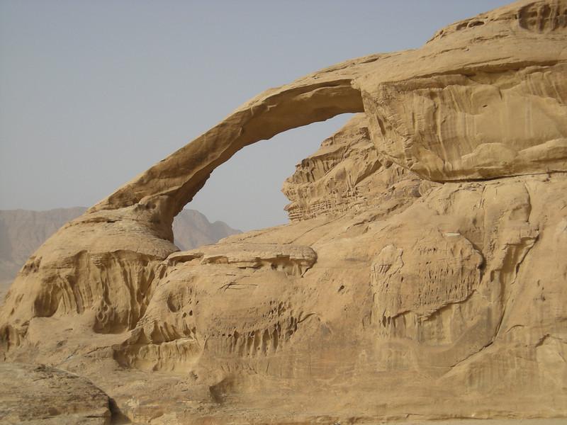 Burdah rock arch in Wadi Rum