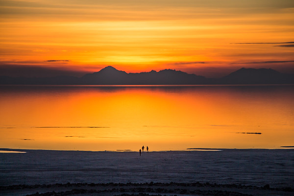 """Will you be mine?""  A Sunset Engagement at the Spiral Jetty"