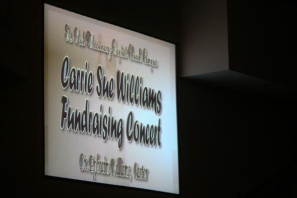 St. Paul Baptist Church - Carrie Sue Williams Fundraising Concert - 9-12-2014