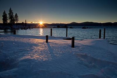 Lake Tahoe in February