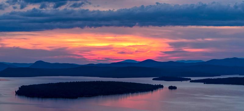 Mooselookmeguntic Lake at Sunset, Rangeley, Maine (63433)