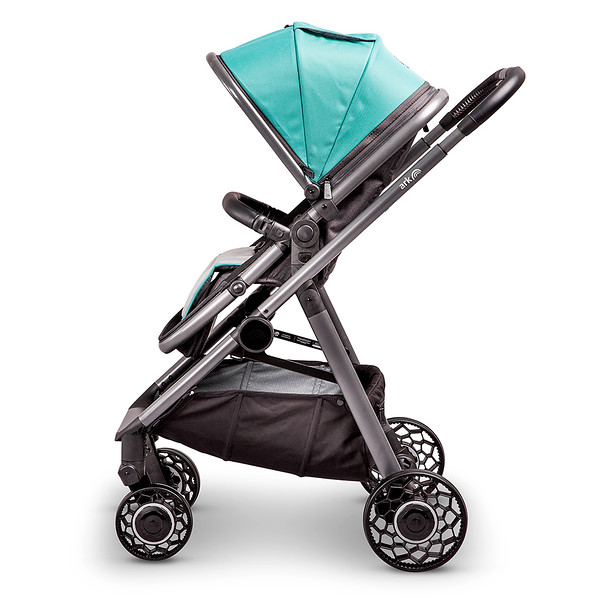 3 Ark Travel System Pushchair Mode World Facing Teal.jpg
