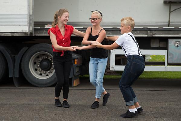 Dansuppvisning och Modeuppvisning, Nasco Yankee Meet, Falköping, 2015-07-25