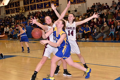 AMHS Varsity Girls Basketball vs Poultney photos by Gary Baker